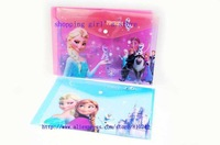 new 12pcs Christmas gift Frozen envelope to file cover pink& blue paper bag Party Favor Document Hold Stationery
