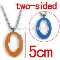 20pcs/lot Portal 2 Necklace  Blue orange circle Double Necklace  Game Necklace