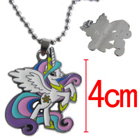 free shipping Unicorn Nick Necklace Silver Unicorn pendent  Necklace