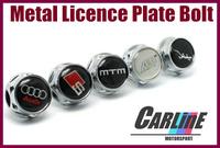 Factory OutLet 60pcs Sline mtm ABT License Plate Frame Chrome Bolts Screws Holder Stainless Steel nuts MIX car emblem
