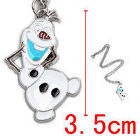 Free Shipping 20pcs/lot Frozen snowman olaf  pendent necklace