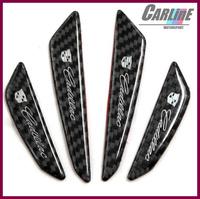 40pcs MIX 100% real carbon fiber anti-bumping car door crashworthy bar Bumper sticker door protector  for wolf car sports