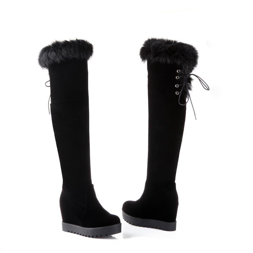 SIMPOK 2014 Winter Women Riding Boots Sexy Pop Sleeve Casual Comfort Slip Hot Market US Size 4-8 B8194(China (Mainland))
