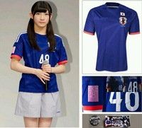 2014 World Cup Man Women Japan Home Away AKB48 Fans Embroided Version Football Soccer Jerseys Kits Shirts