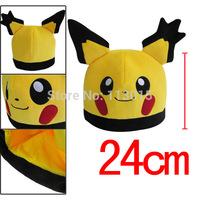 Wholesale 50 PCS/LOT Pocket Monster pokemon pikachu plush hats 2 style mixd free shipping by DHL
