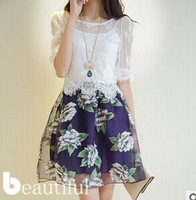 Hot Sale! 2014 New Women Summer Casual Dresses Sexy Lace Dress Free shipping