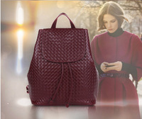2014 New Europe Style Genuine Leather Women's Backpack Shoulder Bag Student's School Bag drop shipping