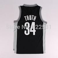 Truth Jersey, Best Quality Hot Sale Paul Pierce Brooklyn 34 2013-2014 Truth Nickname Basketball Jersey