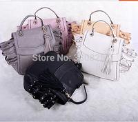 FREE SHIPPING Fashion 2014 women's fashion handbag women's bags rivet handbags women's handbag one shoulder cross-body handbag