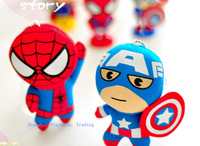 Super Kawaii Hero Captain America & Spiderman BAG Keychain TOY Pendant DOLL Plush Stuffed TOY DOLL Wedding Bouquet TOY GIFT DOLL