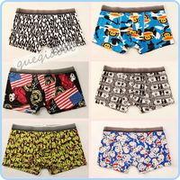 YW006 manstore 2014 fashion hipster undies transparent low waist Doraemon cartoon underwear boxers shorts men