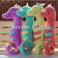 Stuffed animal sea horse plush toy 45cm cushion cute sea horse throw pillow Girls birthday gift wholesale wedding little doll