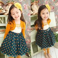 New 2014 autumn princess baby girls dress girls clothes cotton kids dress for party birthday meninas vestir vestidos de menina