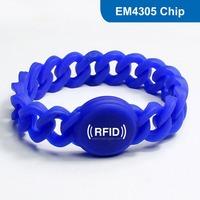 Silicone RFID Wristband RFID Bracelet RFID Tag, RFID Tag  for access control with EM4305 Chip Free Shipping