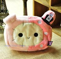Kawaii 16*12CM Sentimental Circus Rabbit Plush Coin Cash Purse & Wallet Pouch BAG Case ; Lady Girl Storage Phone Case BAG Pouch