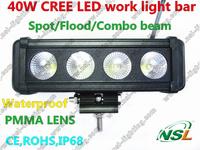 10-30V 40w led light bar for atv suv trucks offroad driving light car led light bar