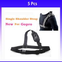 Wholesale Gopro Shoulder Strap Single Shoulder Strap Go Pro Mount Chest Harness Belt For Gopro Hero 3 3+ Camera no retail sale