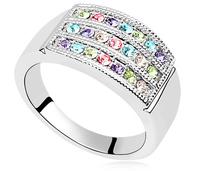 Austria Rhinestone Platinum Plated Ring For Women Wedding Engagement Rings Fashion Charm Jewelry 11623