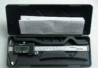 "free shipping 150 mm 6"" Digital CALIPER VERNIER GAUGE MICROMETER with retail box"