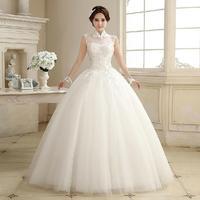 Fashion New Plus size Lace Wedding dress 2014 Bride Princess Floor-Length White vestido de noiva wedding dresses bridal gown W38