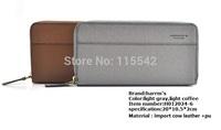 2014 harrm's Male genuine Leather long Design Wallet,men  cluth bag, Card holder Zipper pocket Fashion Purse for men