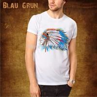 Wholesale brand Men T-Shirts,man tshirts, fashion O-neck t shirt S-XL size  blau tee , gruntee , Indian head style