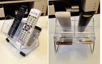 Multifunctional transparent remote receive a case receive a desktop store content box cosmetic receive display shelf