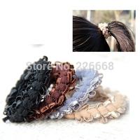 Fashion Color Elastic Rope Ring Hairband Hair Band Ponytail Holder