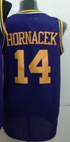 Wholesale Cheap,#14 Jeff Hornacek Men's Purple 2014 New jersey Basketball Jerseys Sale,Sewing logos