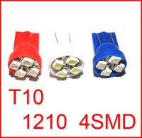 Whole Sale car led auto led w5w 194 4SMD Wedge lamp Bulbs Car Side Indicator Light 1000pcs/lot T10 4smd 4LED 4 LED smd 3528 1210