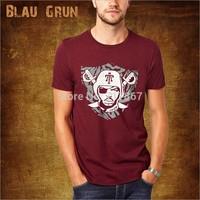 2014 Hot Wholesale brand Men T-Shirts,man tshirts, fashion O-neck t shirt S-XL size  blau tee , gruntee ,Hero  BL005style