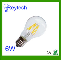 bulb LED lamps 220-240v 6W 8pcs filament 750lm e27 e26 B22 lamps warm white led Light 2700k 4000k 6000k without plastic base