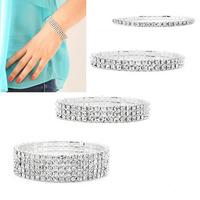 2014 New Fantastic Fashion Crystal Rhinestone Stretch Bracelet Bangle Wedding Bridal Wristband  Free Shipping&Wholesale Feida