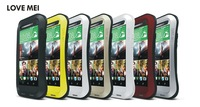 LOVE MEI Powerful Shockproof Dirtproof Waterproof Metal Case For HTC One M8 DHL Free & Fast Shipping