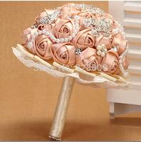 valentine's day gift Gorgeous handmade rose diamond pearl Luxurious wedding bouquets bride bouquet wedding accessories