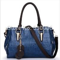 6 Colors High Quality Vintage Stone-Print Cowhide Leather Lady's Handbag Messenger Bags,Women Motorcycle Bag Pendant Decoration