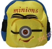 1pcs  New cartoon school bag Despicable Me2 minions children backpacks cute baby bag
