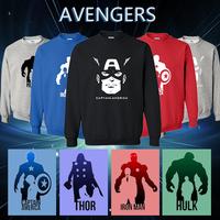 2014 autumn -winter sports streetwear avengers man hoodies sweatshirt Captain America Iron man Hulk Thor sportswear moleton