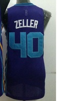 Cheap Sale #40 Cody Zeller Men's Blue 2014 New fabric Basketball jerseys,Sewing logos,