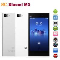 "Original Xiaomi Mi3 m3 Mi 3 5"" FHD IPS 1920x1080 2GB RAM 64GB Snapdragan 800 2.3GHz Smart Phone WCDMA Dual SIM 13.0MP Camera"