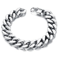"Punk Style Stainless Steel Rock Bracelet 8.66"" New Fashion Mens Bracelets & Bangles Popular Men's Chunky Jewelry Bicycle Chain"