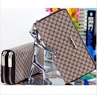 Business men and women of high-quality double zipper bag purse clutch purse wholesale fashion boutique