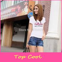 LA113 Brand summer T shirt  cool Women Hollistic 100% Cotton hot saleO-neck Short Sleeve T shirt love it Ladies T-shirt