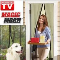 free shipping Magic mesh fashion door curtian magnetic window screen mosquito curtain home decor girls 210*100cm Organza