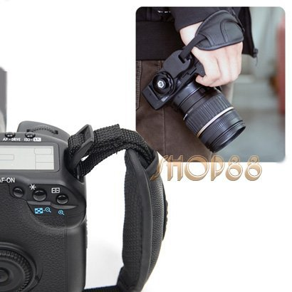 Brand new High Quality Black Camera Wrist Strap / Hand Grip for Canon Nikon Sony Olympus SLR/DSLR(China (Mainland))