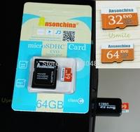 High quality Latest Version Memory Card 64GB 32GB EVO Micro SD Card  Flash Cards Micro SDHC SDXC Microsd TF USB Reader Box