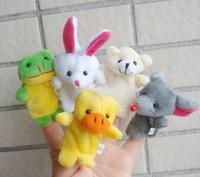 200pcs 2014 brand new animal finger puppet Hand puppet 10pcs /set