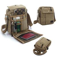 New Men's Vintage Canvas Multifunction Travel Satchel Messenger Shoulder Bag Free Shipping#HW03045