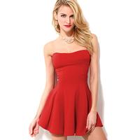 2014 summer dress  vestidos street paragraph of sexy tube top racerback strapless slim waist one-piece dress d430