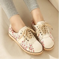 Hot-selling 2014 cotton-made shoes floral print shoes four seasons women's casual shoes canvas shoes